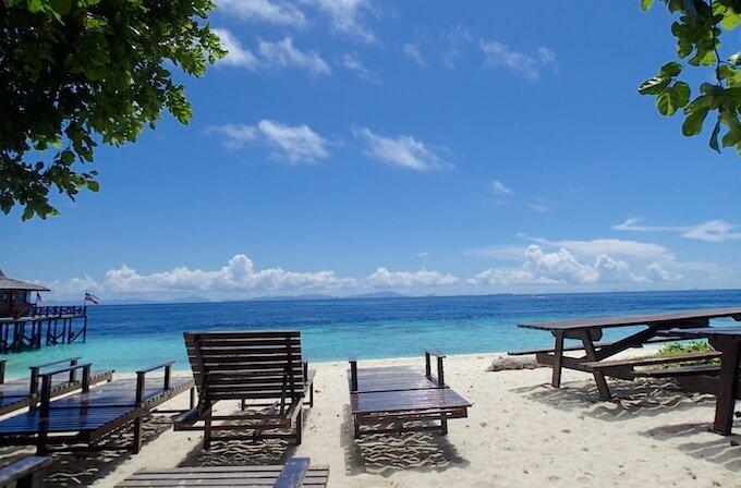 シパダン島のビーチ2