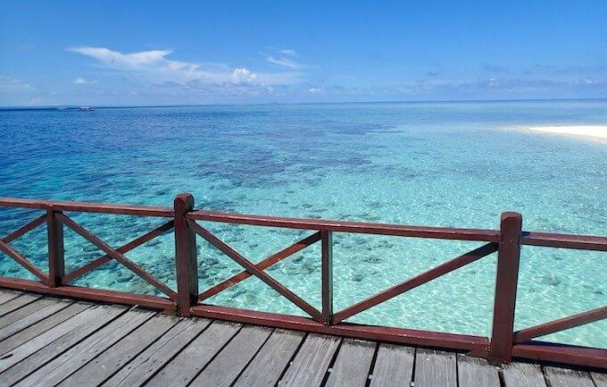 シパダン島桟橋