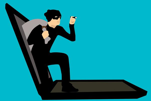 コンピューターから情報を盗み出す詐欺師