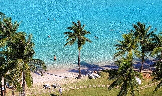 グアムのビーチ(上から撮影)
