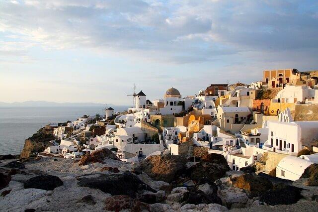 ギリシャのサントリーニ島と海のある景色3