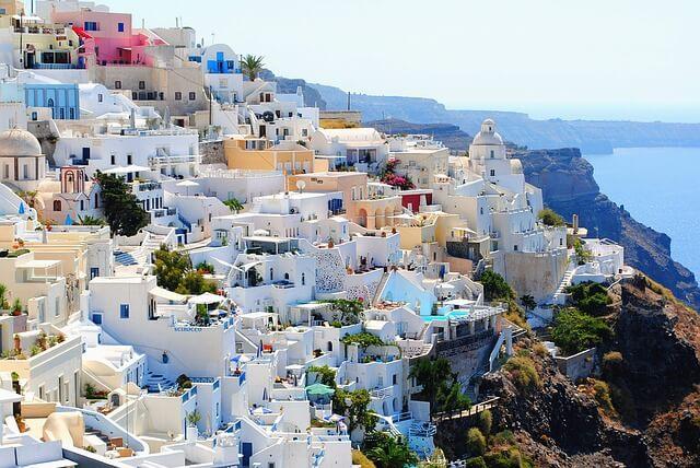 ギリシャのサントリーニ島と海のある景色4