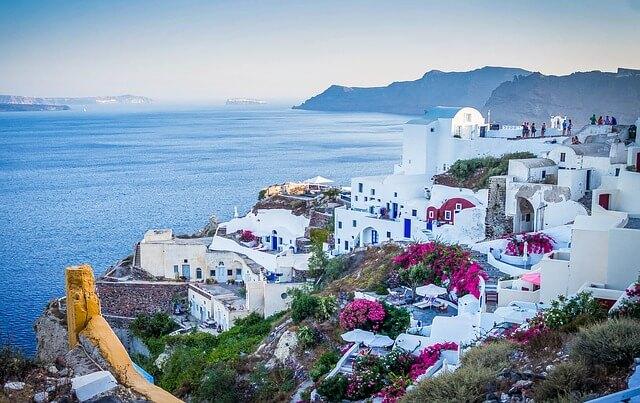 ギリシャのサントリーニ島と海のある景色5