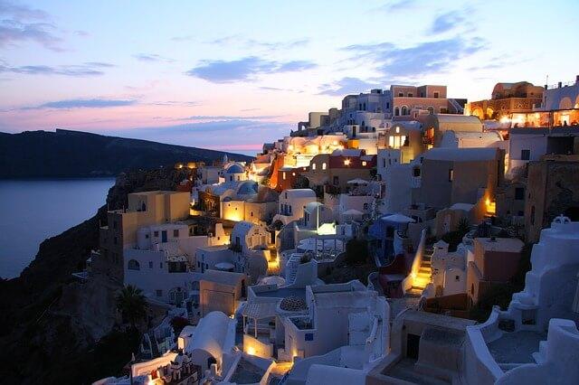 ギリシャのサントリーニ島の夜景2