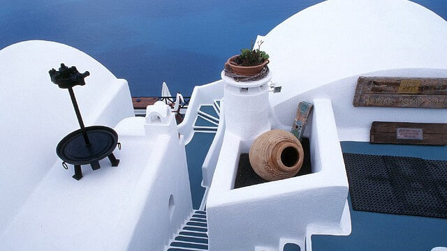 ギリシャのサントリーニ島の町の中11