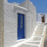 ギリシャのサントリーニ島の散歩道