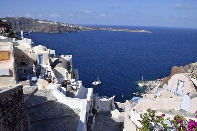 ギリシャのサントリーニ島を街歩き