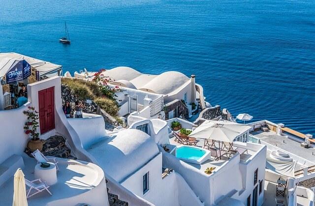 ギリシャのサントリーニ島を街歩き(ホテル)
