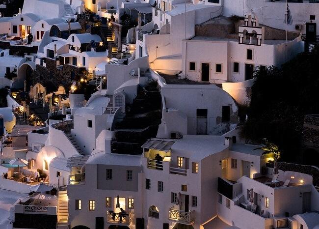 ギリシャのサントリーニ島(夕日)2