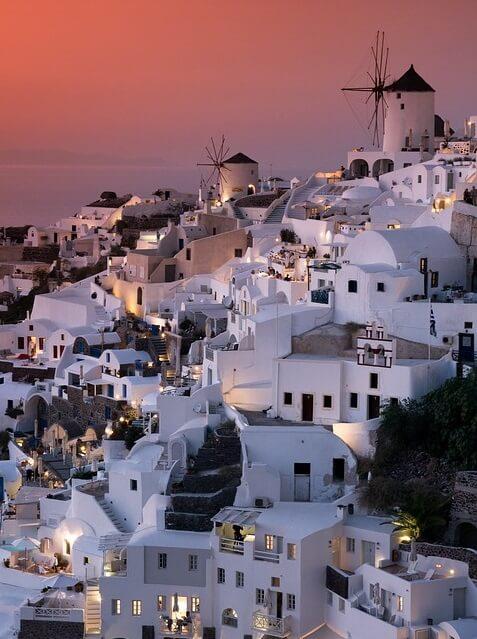 ギリシャのサントリーニ島(夕日)3