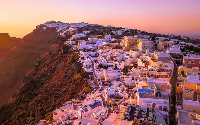 ギリシャのサントリーニ島(夕日)4