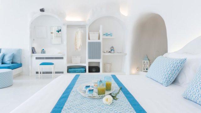 マレジオスイーツの部屋のベッド
