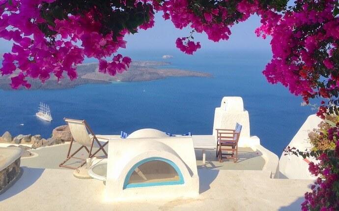 ギリシャのサントリーニ島 街角フォト1