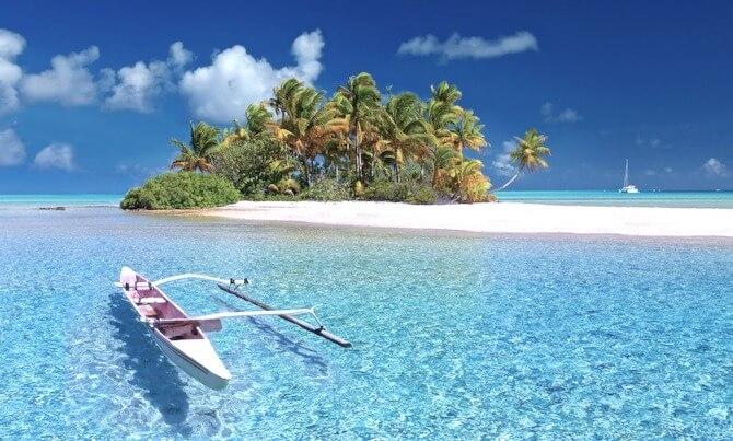 タヒチの島