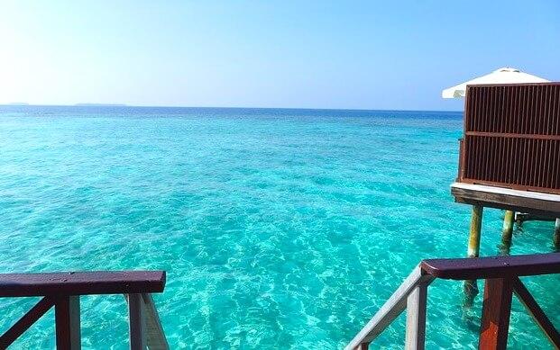 モルディブの美しい海1