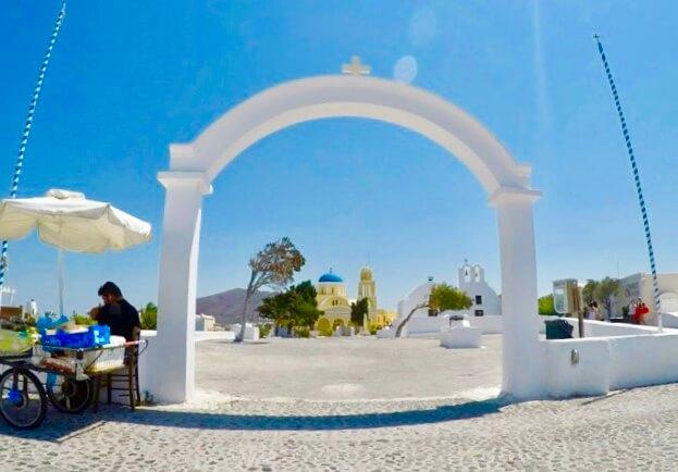 ギリシャのサントリーニ島の写真ポイント