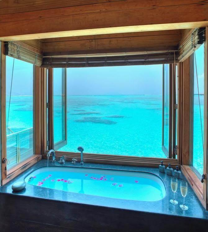 ギリ ランカンフシ モルディブの風呂