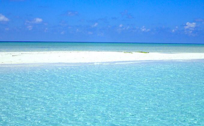 モルディブの美しい海