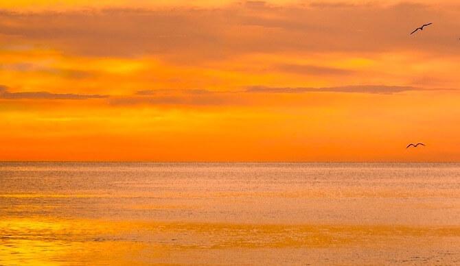 モルディブの夕焼け