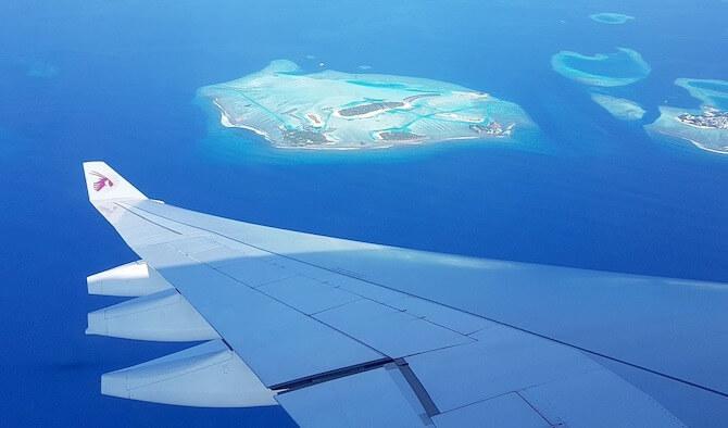 モルディブの飛行機