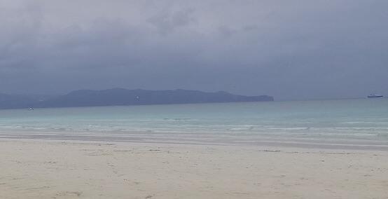 雨の日のモルディブ