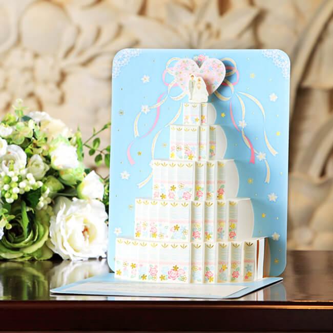 結婚祝いの立体カード