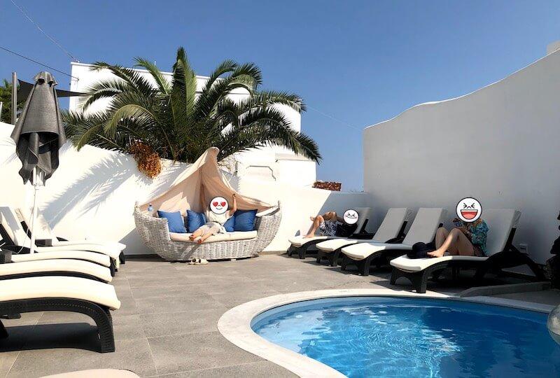 フィラのホテルのプール