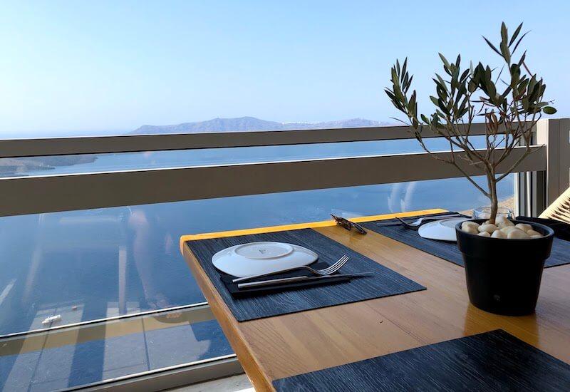 フィラのレストランClassicoの最高の景色3