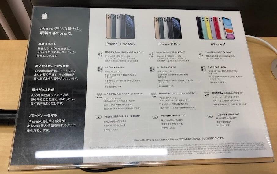 ビックカメラ有楽町店のSIMフリーiPhone1