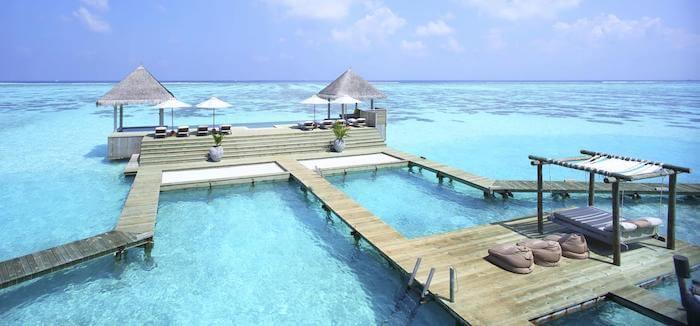 ギリ ランカンフシ モルディブの海