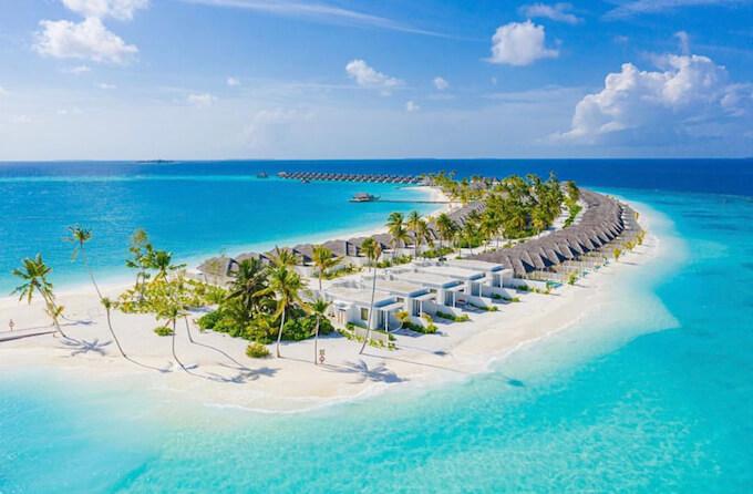 モルディブのリゾートとビーチ