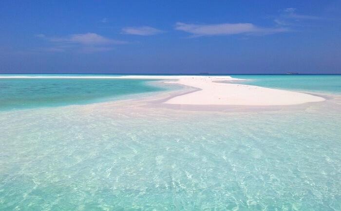 モルディブの砂州