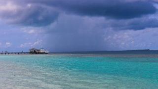 雨期のモルディブ