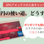 SPGアメックス入会キャンペーンの、30万円の使い道